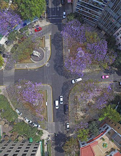 Vista aérea de Plaza Necaxa