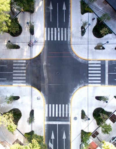Vista aérea de Plaza Neva