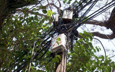 El problema del cableado en la Colonia Cuauhtémoc