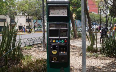 Los parquímetros de la Colonia Cuauhtémoc en operación